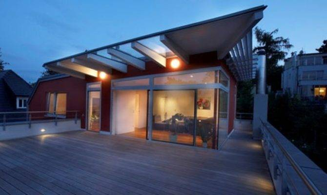 Rooftop Terrace Design Ideas Modern Panoramic Roof House