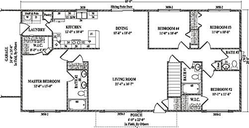Roosevelt Wardcraft Homes Ranch Floorplan