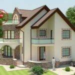 Round Balcony House Plans Facade Which Different