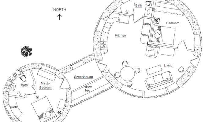 Roundhouse Plan Earthbag House Plans