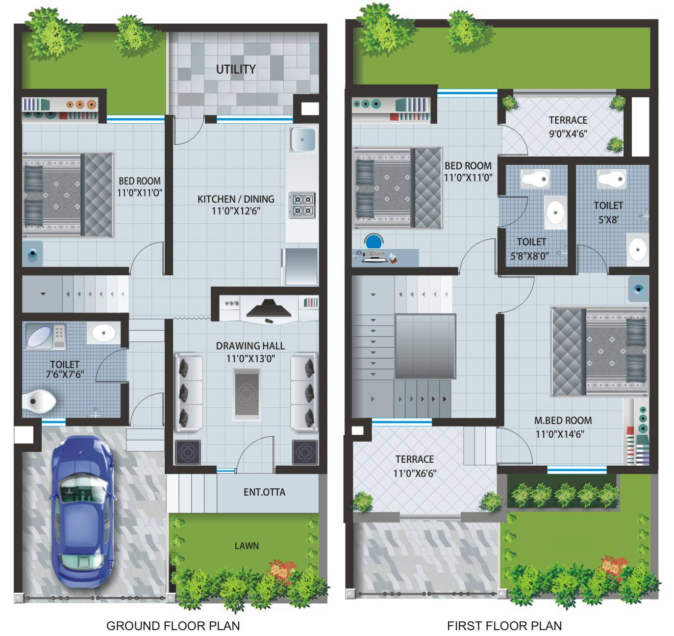 Row House Layout Plan Patel Pride Aurangabad