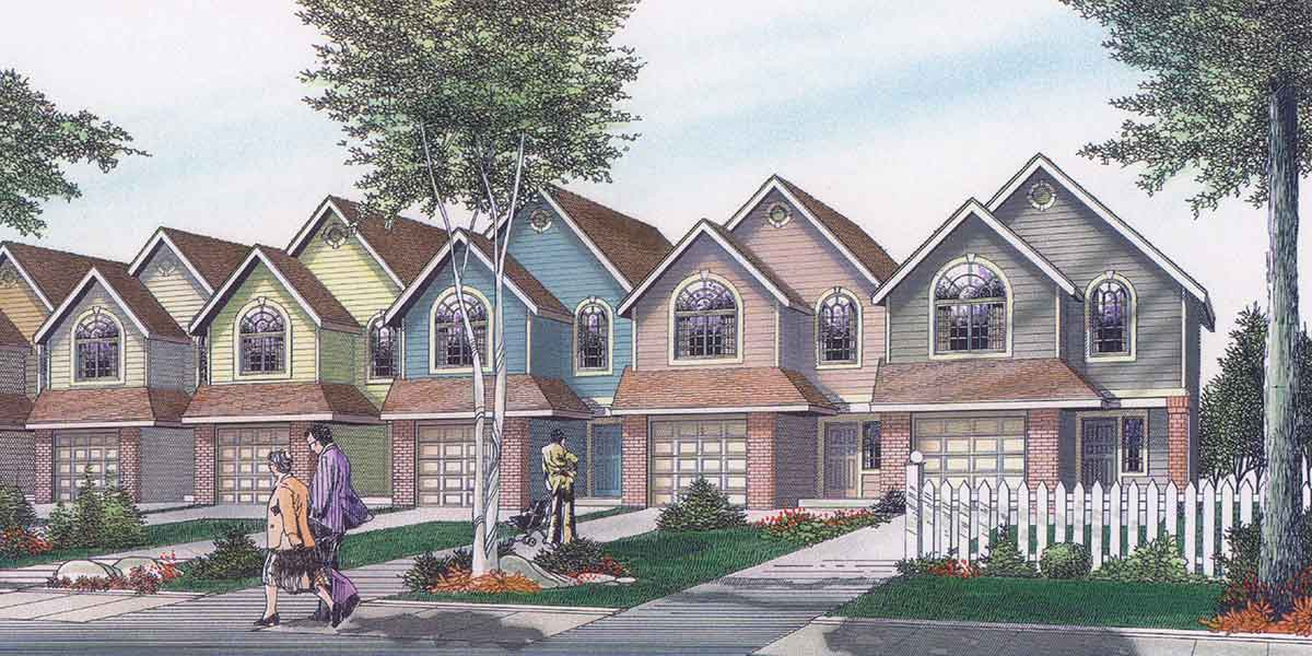 Row House Plans Bedroom Duplex Story