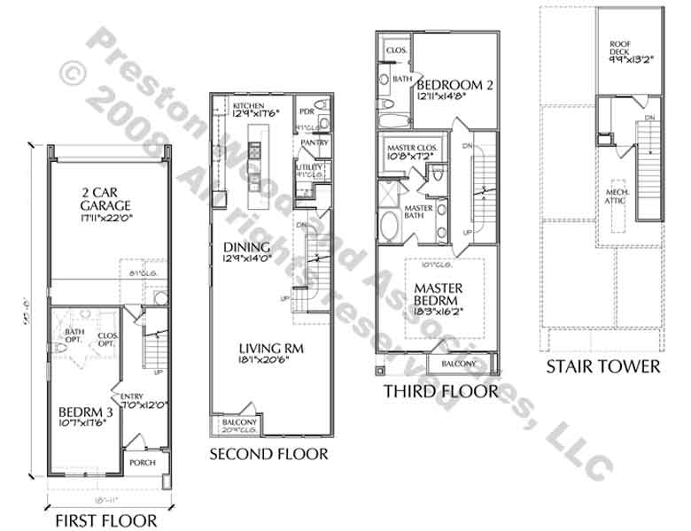 Row Houses Floor Plans House Design Bedroom Plan