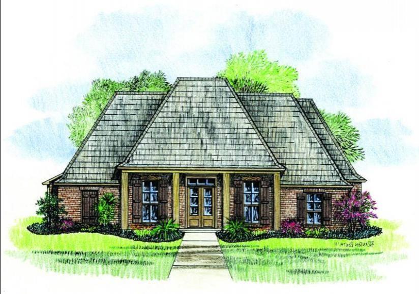 Rustic Acadian House Plan Plans Floor Source