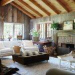 Rustic Cottage Style Living Room Ideas Vaulted Wooden