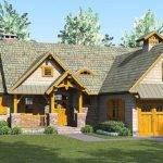 Rustic Craftsman Lodge Architectural Designs
