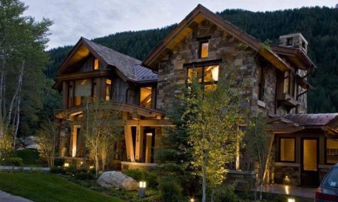 Rustic Home Exterior Steamboat Springs Stucco Metal