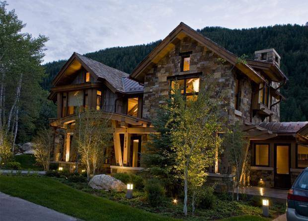 Rustic Home Exterior Steamboat Springs Stucco Metal