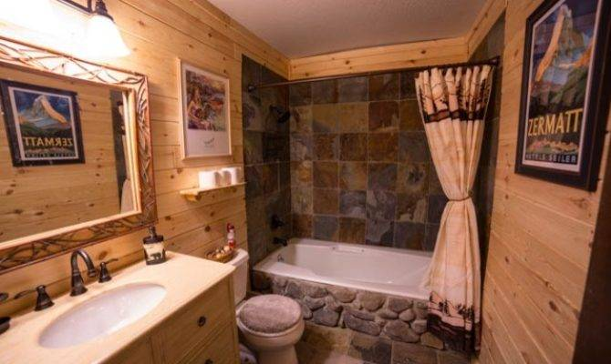 Rustic Log Cabin Bathroom Traditional Other