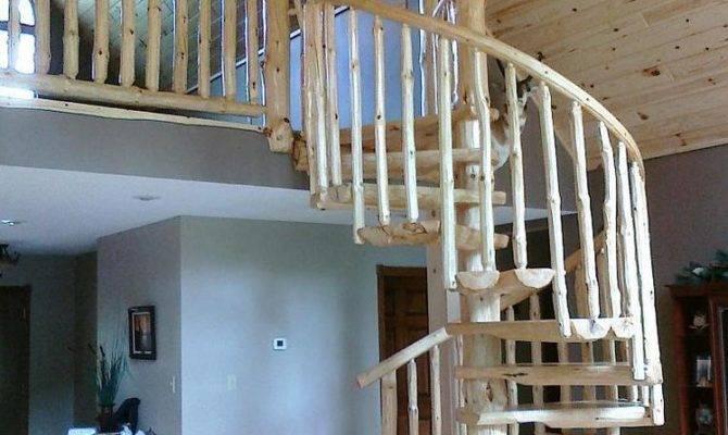 Rustic Log Spiral Staircases Stairways Priced Per Step