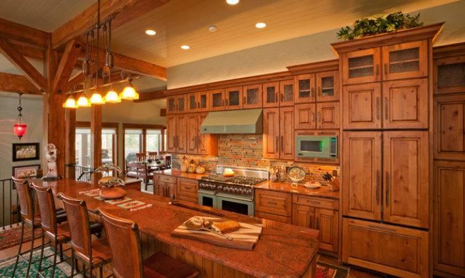 Rustic Mountain Home Kitchen Fedewa Custom