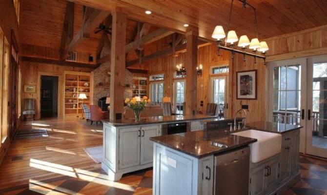 Rustic Open Floor House Plans Kitchen