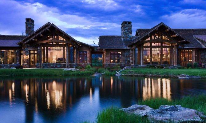 Rustic Yet Refined Mountain Home Surrounded Montana