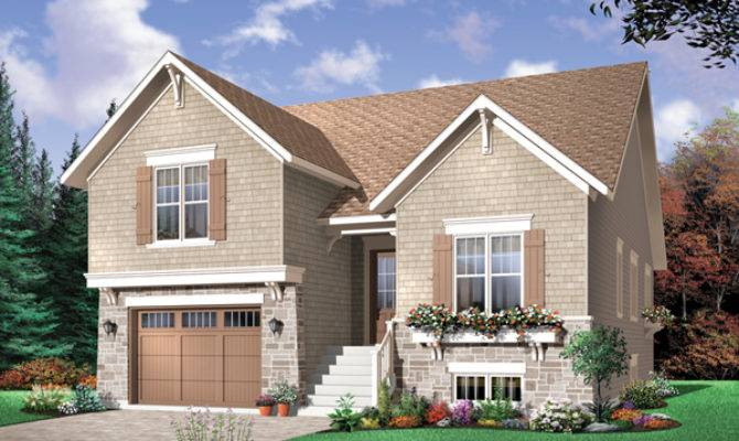 Saddlepost Split Level Home Plan House Plans