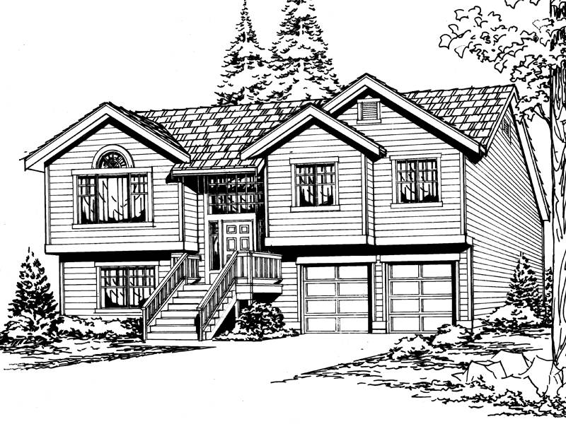 Sagemeadow Split Level Home Plan House Plans More