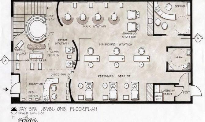 Salon Floor Plans Day Spa Level Design Stroovi