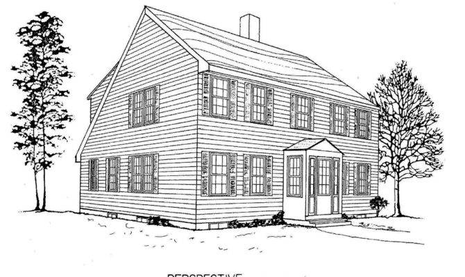 Salt Box Home Plans Unique House