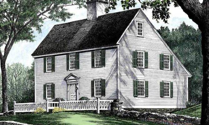 Saltbox House Plans Awesome Colonial Small Home Sample