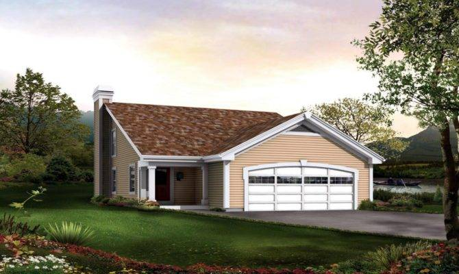 Saltbox House Plans Garage Colonial Home
