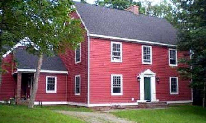 Saltbox Style Historical House Plan Floor
