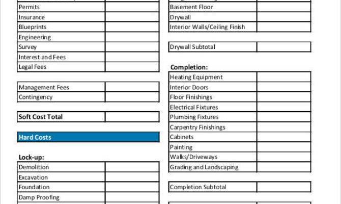 Sample Budget Forms Templates