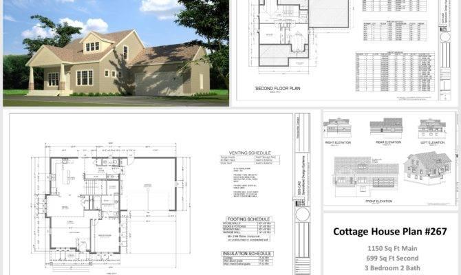 Sample Cottage House Plans Garage