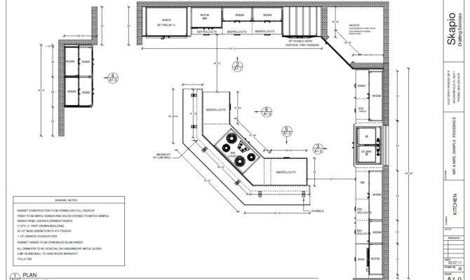Sample Kitchen Floor Plan Shop Drawings Pinterest