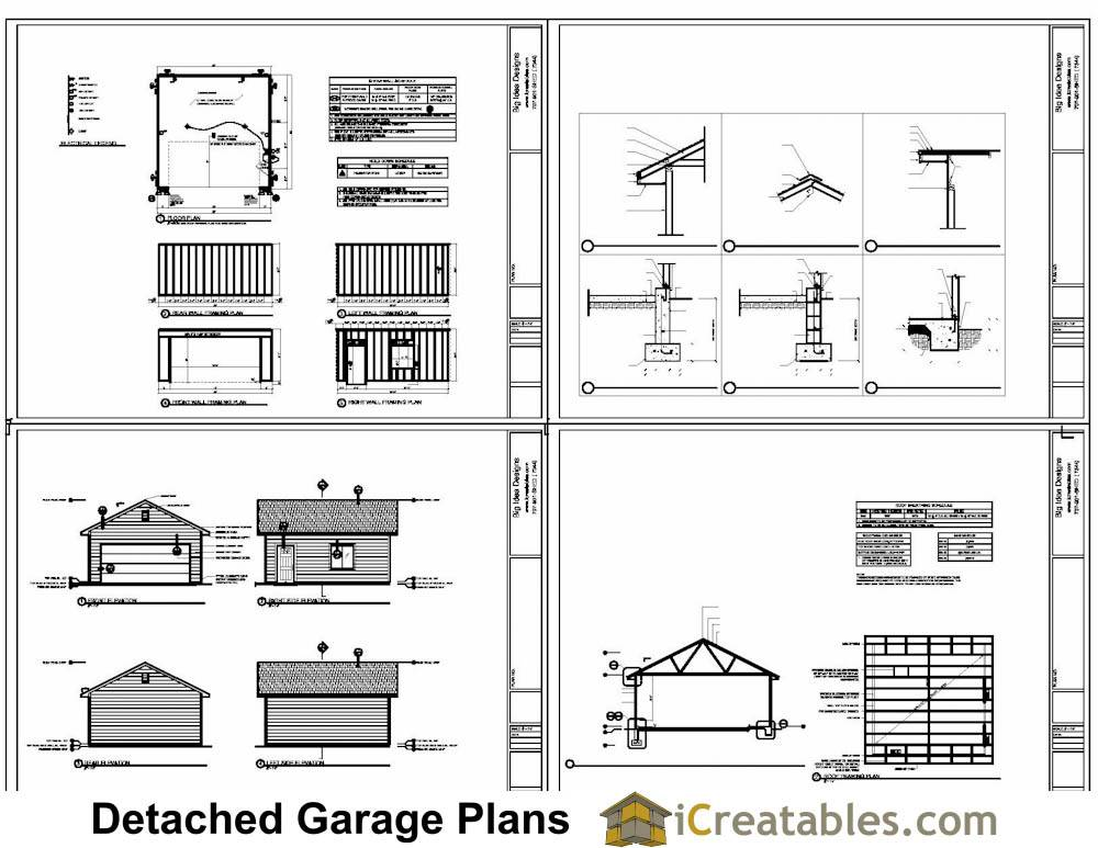 Sample Sheets Our Car Door Garage Plans