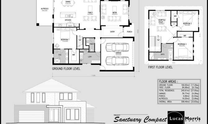 Sanctuary Balwyn Double Storey Floor Plan Design