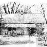 Sandersville Road Farmhouse Drawing Peter Muzyka