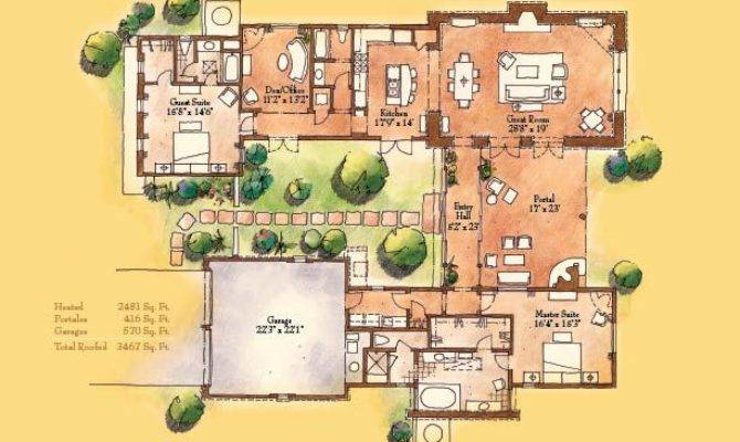 Santa Style Home Floor Plans Design