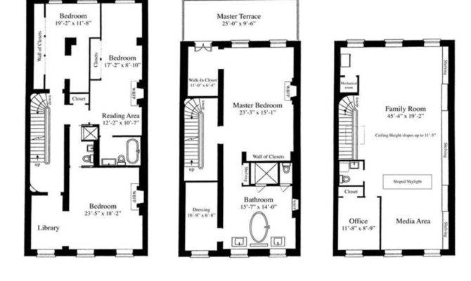 Sarah Jessica Parker Townhouse Floorplan