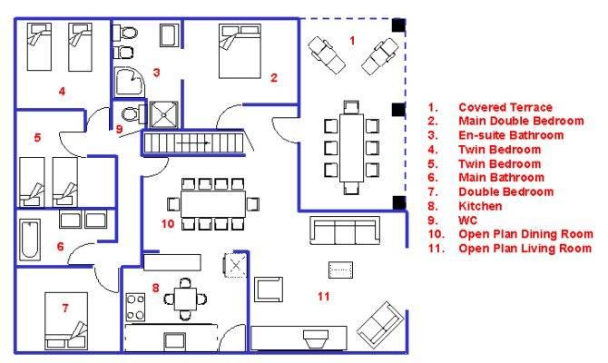 Schematic House Layout Below