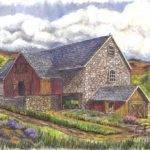Scottish Farm Drawing Carol Wisniewski