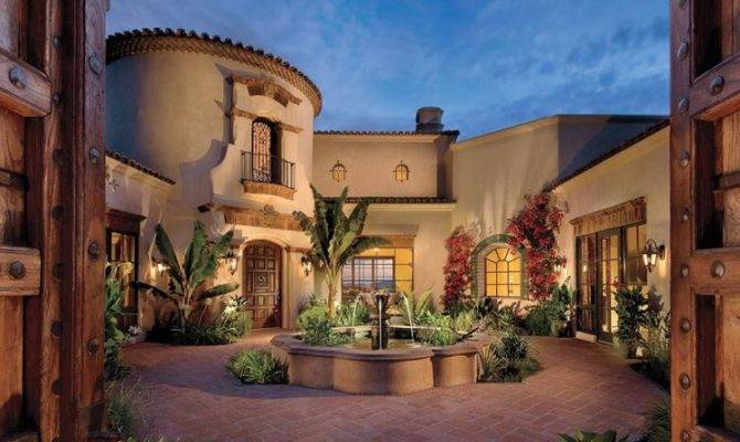 Scottsdale Spanish Mediterranean Luxe Beautiful Homes Pinterest