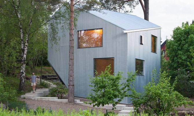 Sculptural Affordable Prefab Home Sweden Freshome