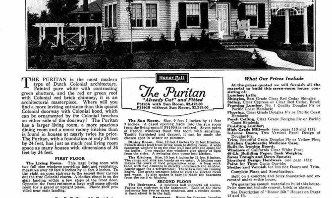 Sears Dutch Colonial House Plans