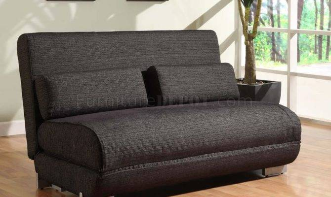 Seater Convertible Loveseat Bed Charcoal Fabric