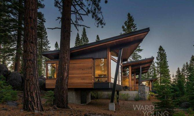 Secluded Mountain Modern Home Martis Camp Surrounded