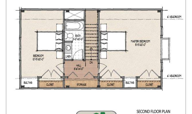 Second Floor Hosts Large Master Bedroom Guest