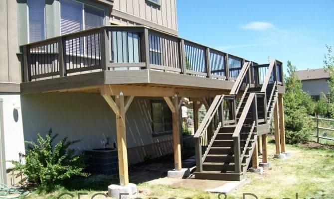 Second Story Decks Utah Deck Experts House Plans