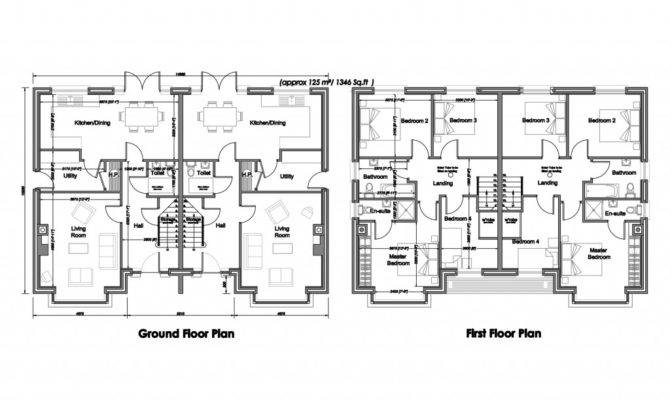 Semi Detached House Plans Design Decoration