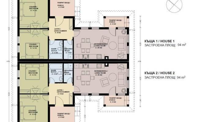 Semi Detached House Plans Skyline Bulgaria Home