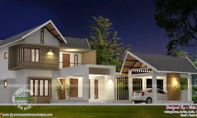 Separate Garage House Plan Kerala Home Design Floor