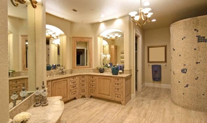 Shaped Bathroom Vanity Design Decor Photos