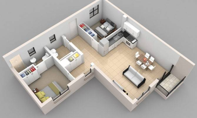 Shaped Bedroom Layout