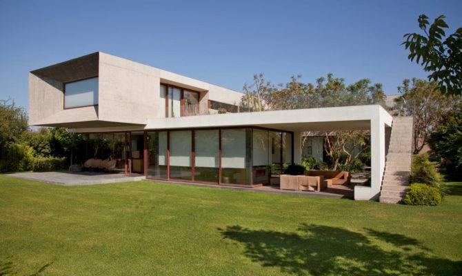 Shaped House Glass Lower Floor Concrete Upper