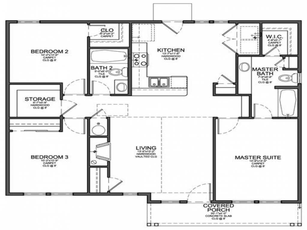 Shaped House Plans Attached Garage Modern Shape