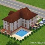 Shaped House Sims Fan