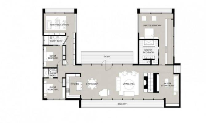 Shaped Houses Pinterest Courtyard House Plans French